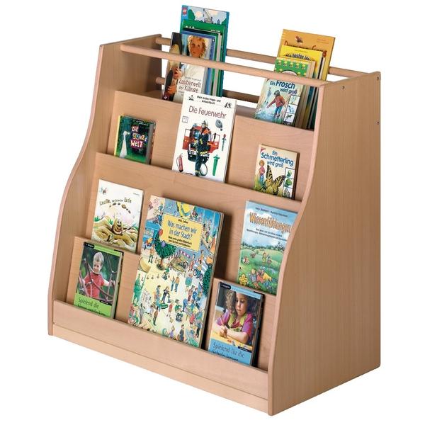 dubbelzijdige boekenkast met wieltjes
