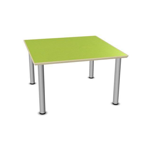 Tafelblad 100 X 100.Vierkante Tafel Met Losse Metalen Poten 100 X 100 Cm
