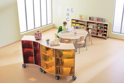 HABA meubilair voor de inrichting van basisscholen.