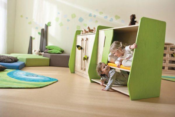 Inrichting kinderopvang met HABA interieur.